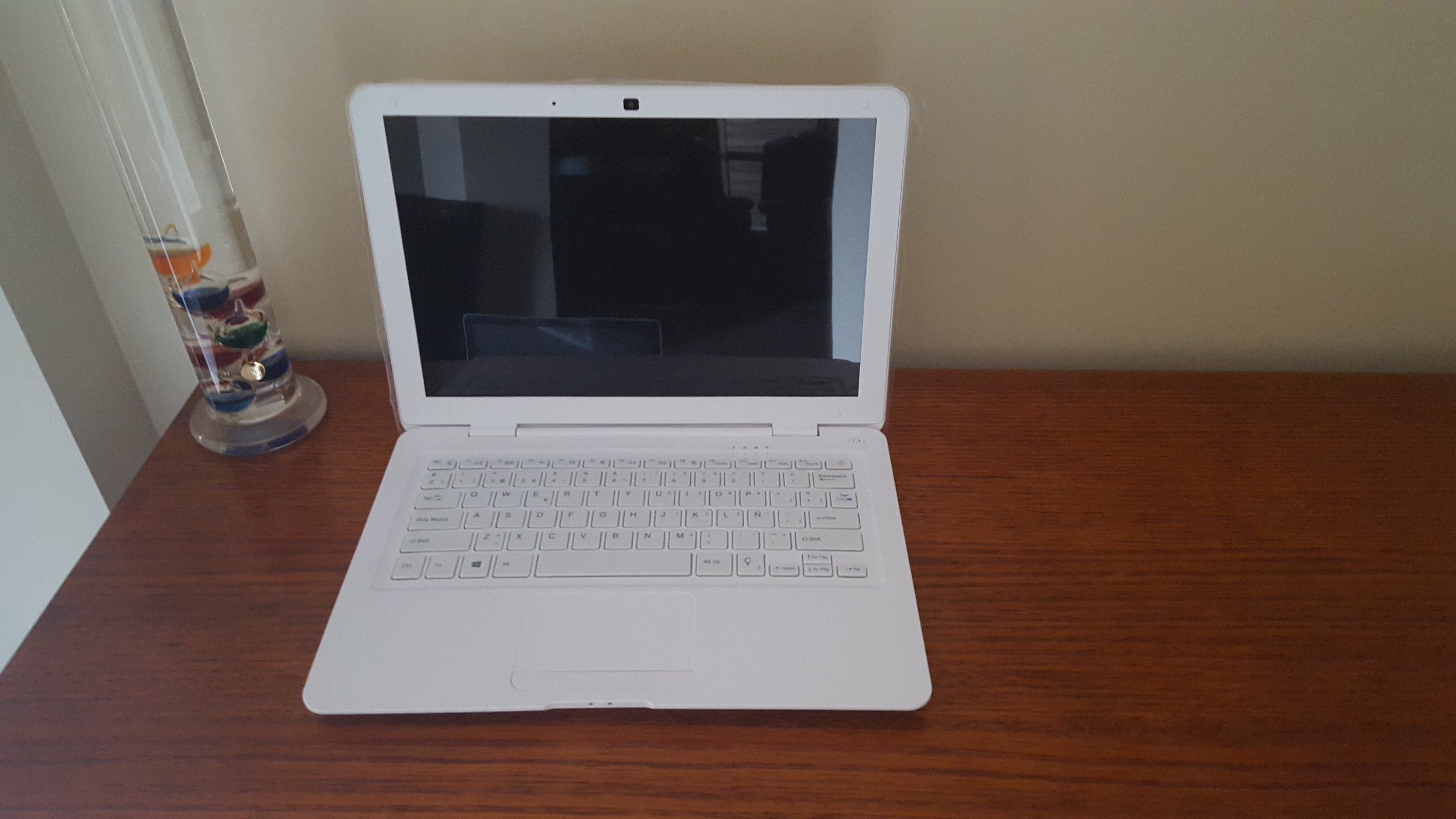 "White 14"" Laptop prop"